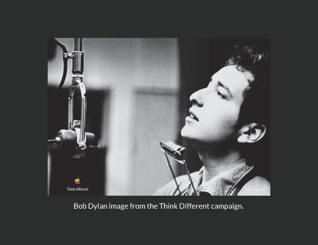 Bob Dylan image from the Think Different campaign.