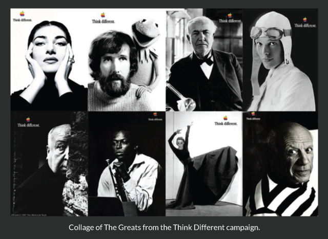 Collage of The Greats from the Think Different campaign.